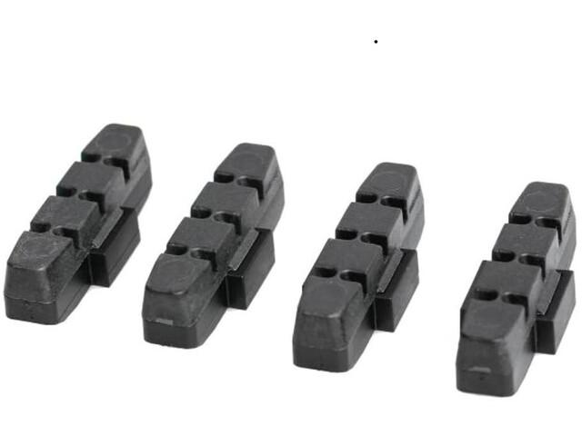 Magura HS11/HS33 Rim Brake Pads for Uncoated Aluminium Rims 25 Sets, black